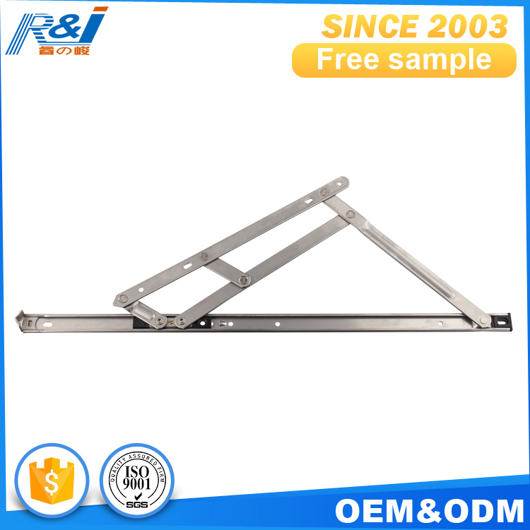Flexible stainless steel friction stay hinge for window