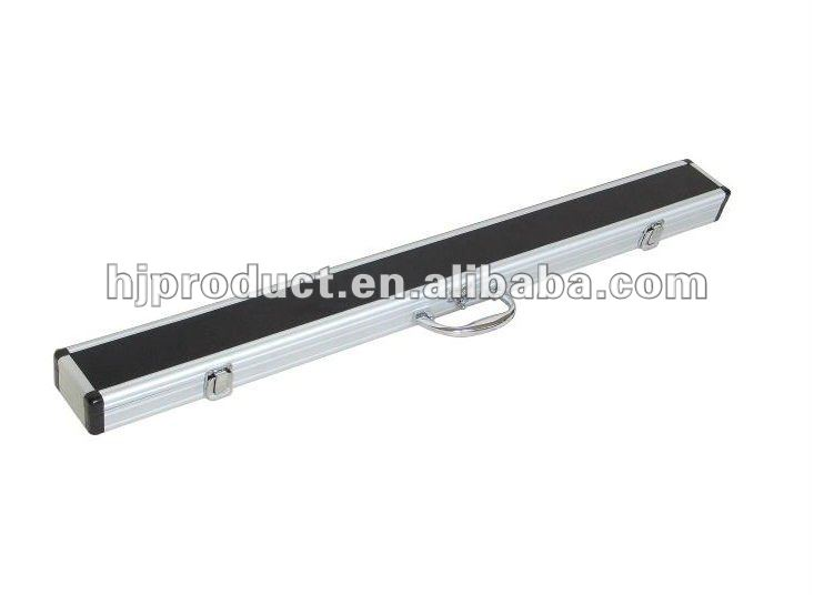 High-end frosted black leather aluminum Russian cue case