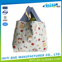 Foldable folding promotional men canvas sling bags