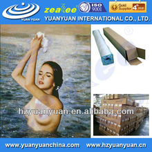 5WP-360CAG MOST POPULAR! glossy stretched canvas in roll, painting art canvas, Coated PVC Canvas roll