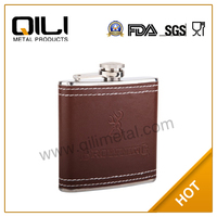Free Shopping Stainless Steel Hip Flask for International Brand Liquor
