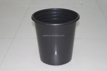 pp material 5 gallon black plastic gallon pot
