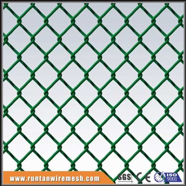 diamond hole green pvc plastic coated softball chain link fencing