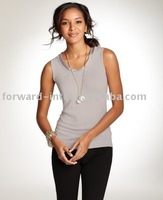 Women's silk/cashmere sleeveless sweater