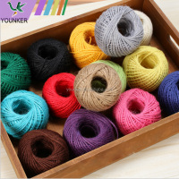 wholesale three strands1.5mmcolored jute rope hemp rope for DIY and party home decoration