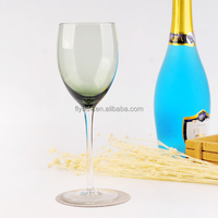 The Eye Catching GLASS, Attractive and Durable Hand BLOWN Green Wine Glass or Glass Globet for Highlight your Flatware