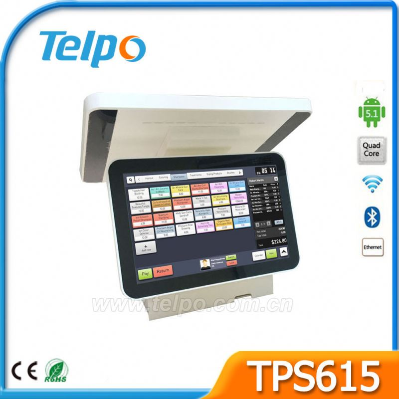 Clothes shop sales tax control account pos terminal for butcher or deli with Cash Drawer