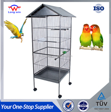 Pet Iron Large Bird Cage Play Top Parrot Cockatiel Cockatoo Parakeet Finches