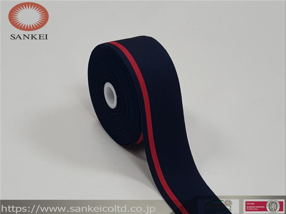 Flat elastic band, suitable for different ages use,underwear,pants,baby clothes,sportswear,T- shirts,etc.Black and Red