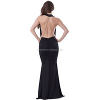Shiny beads dubai fashion long evening dress