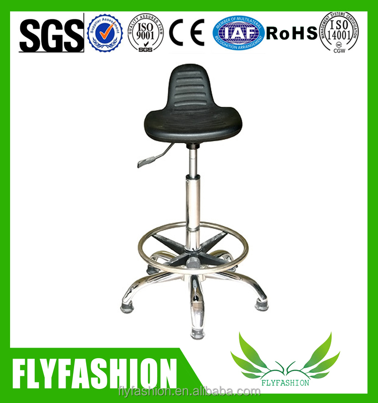 Laboratory stool chair adjustable stool with foot ring