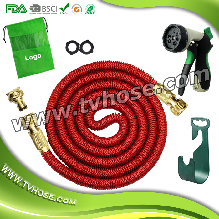 China pipe manufacturers enhanced brass fitting connectors professional grade expandable garden hose
