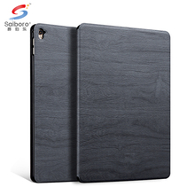 Leather+wood for ipad air 2 case for apple smart cover for ipad pro 2016