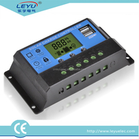 12v 24v 48v auto LCD display usb charge solar controller