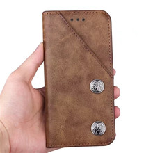 Free sample leisure style card slot design classical PU leather flip mobile phone case for iphone 8 plus case