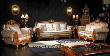 10050 European Classic Wooden Antique Sofa Set Design