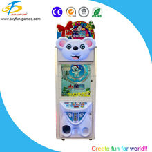 New coin operated mini gift prize claw crane vending machine Litter bear toy crane for sale