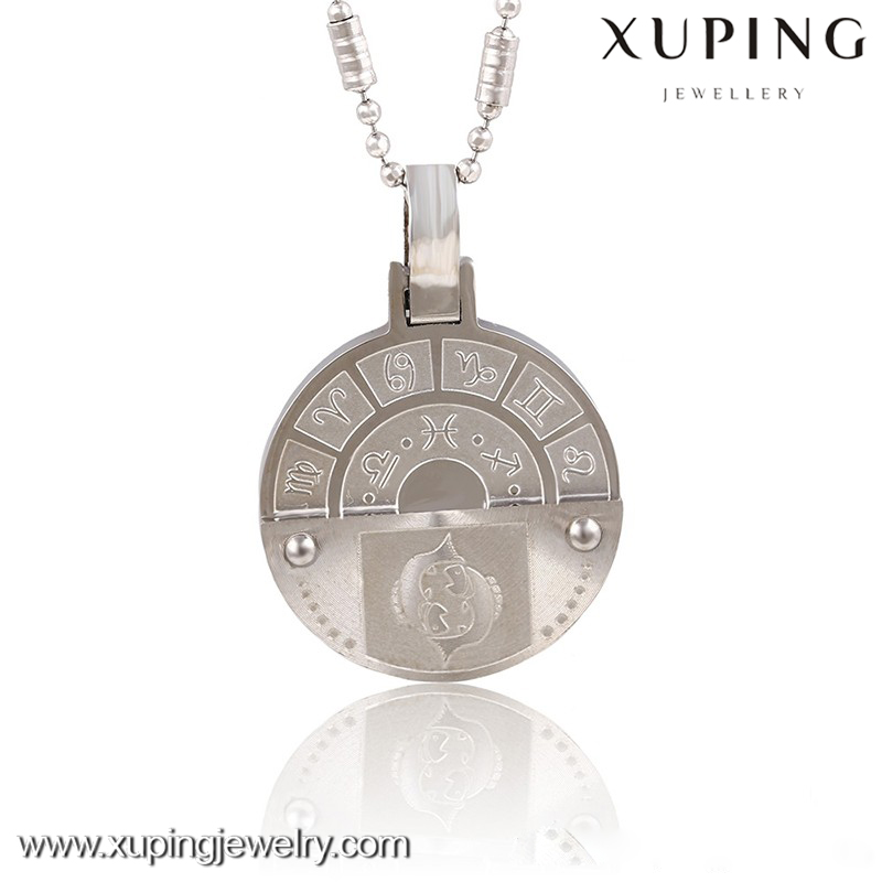 pendant-00017-xuping fashion wholesale stainless steel jewelry 12 zodiac signs pendant