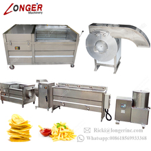 Manufacturer Frozen French Frites Surgeler Yuca Apple Chip Production Line Automatic Potato Chips Making Machine Price