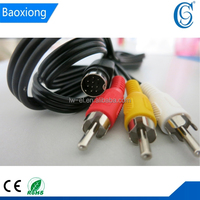 9 Pin to 3 RCA MALE TO MALE audio video Cable RCA cable