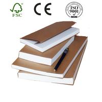Free sample recycle brown kraft paper blank cover notebook