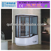 Autme steam complete enclosed glass shower room with deep tub