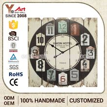 Grab Your Own Design Customized Oem French Country Tuscan Style Long Acrylic Wall Clock Hands