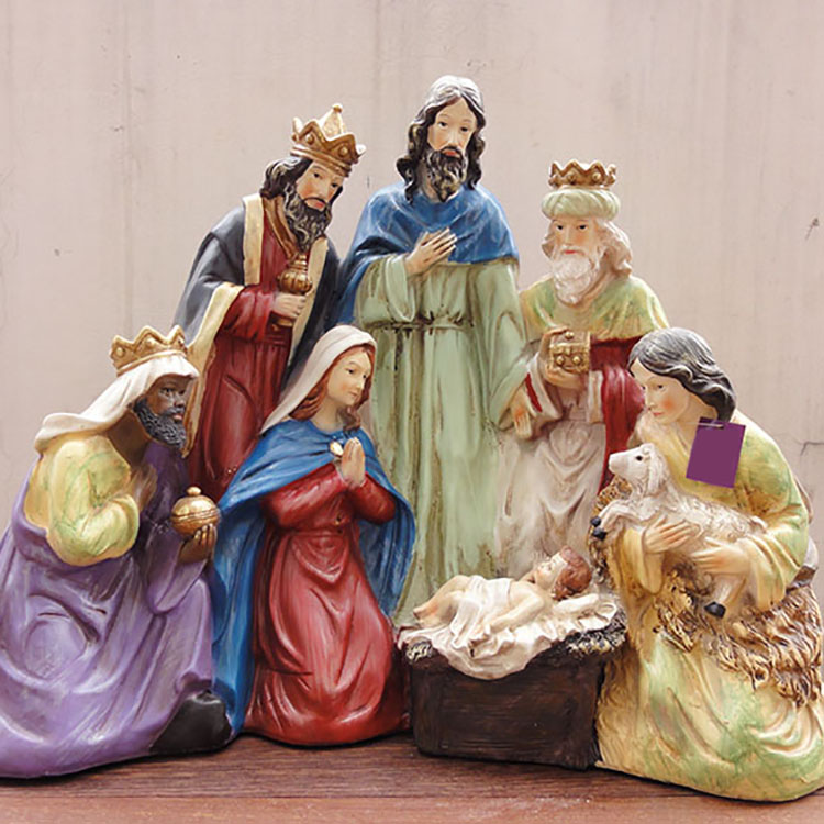 Factory Custom Made Home Decoration Gift Resin Nativity Set
