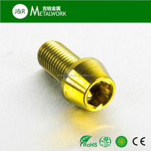 Customized anodized plated aluminum taper cap head screw