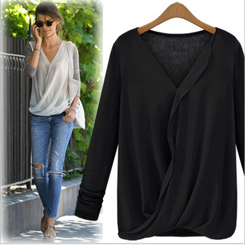 W70635G 2015 loose high quality blouse women new model shirts blouses women of plus size women clothing