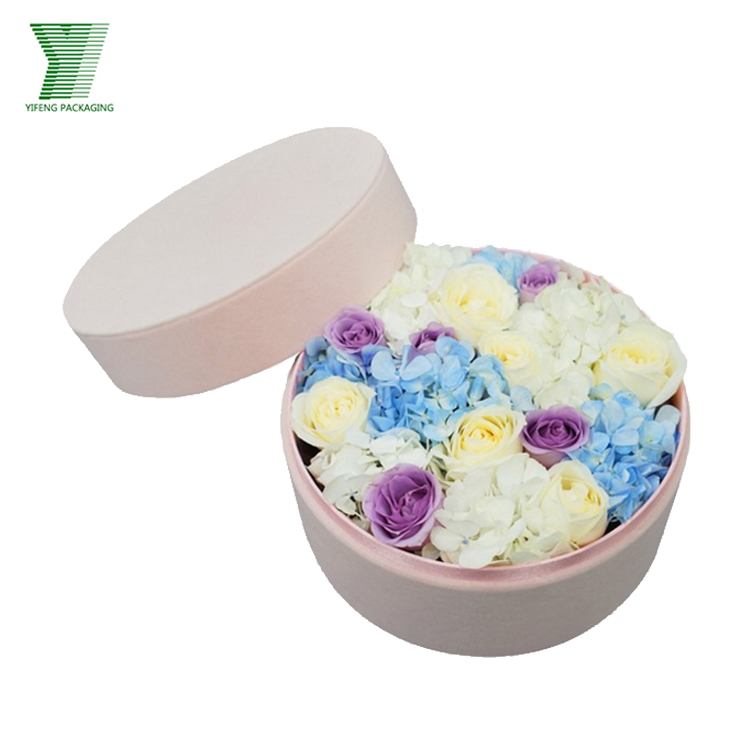 China luxury rose round packaging gift printing wholesale flower hat box for sale