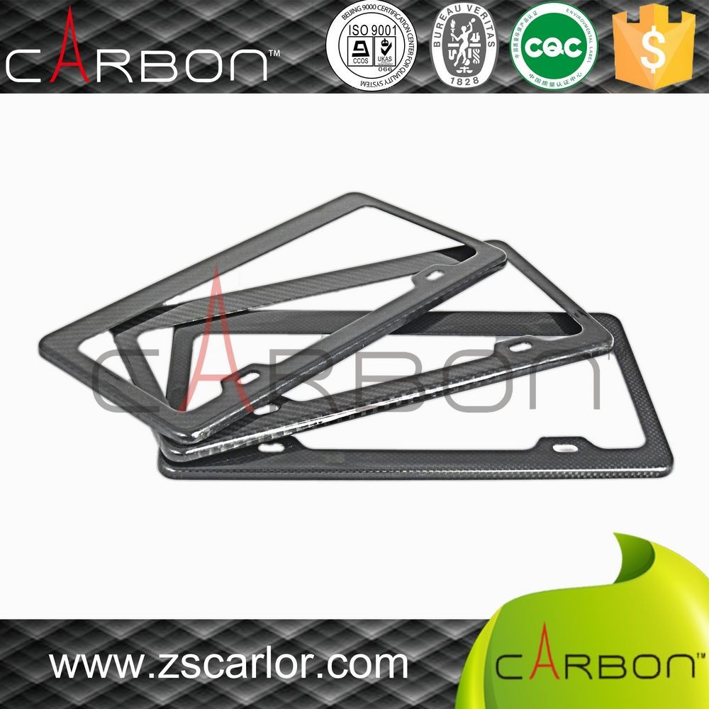 2017 Unique Modern Carbon Fiber US Number License Plate Frame