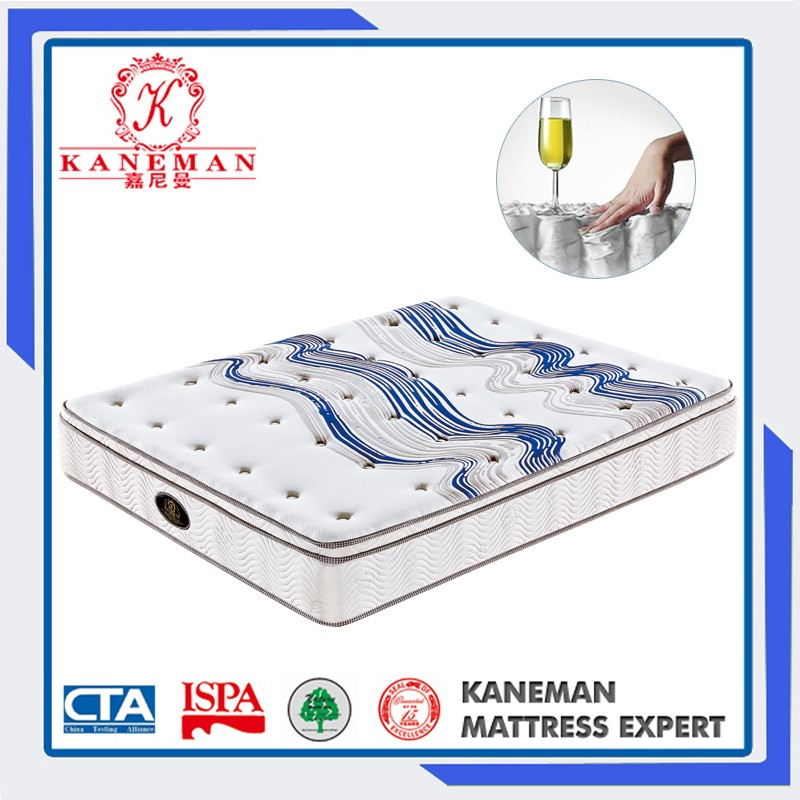 The Most Popular China Wholesale King Size Euro Pillow Top Pocket Spring Mattress