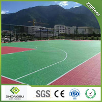 Basketball PP Flooring Sports Construction Used Interlocking Floor