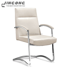 Fashion style luxury executive office chair leather white without wheels
