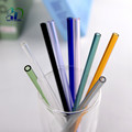 Customized borosilicate glass drinking straw in high quality 200mm glass drinking straws