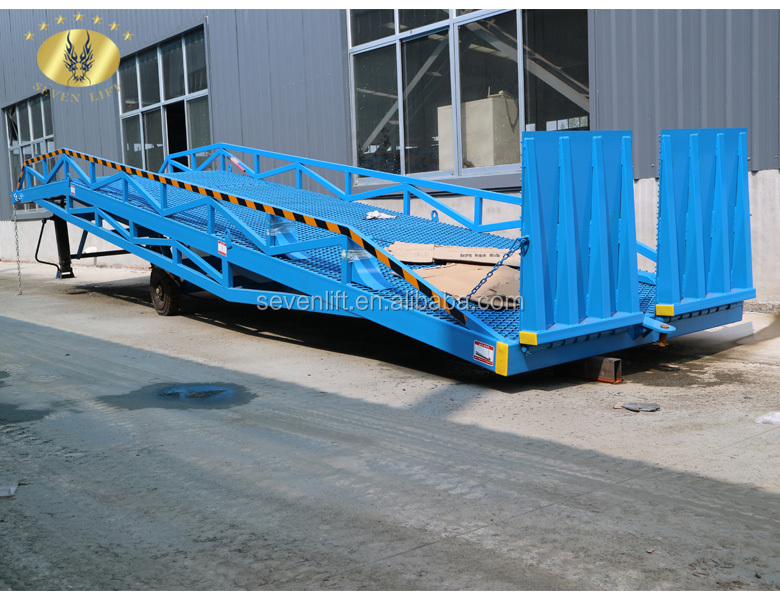 7LYQ Shandong SevenLift portable truck trailer used container adjustable hydraulic loading unloading manual dock platform ramps