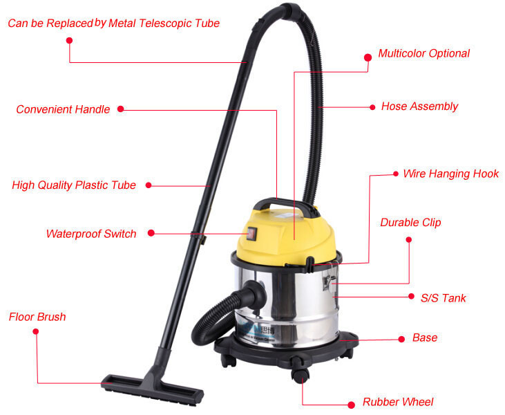 1200w Portable pond vacuum cleaner with blowing function