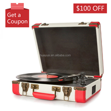 Suitcase Style Vintage Portable Crosley Vinyl Turntable Player With USB Bluetooth