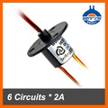Electrical contact 12mm 6 wires 2A current of Capsule slip ring