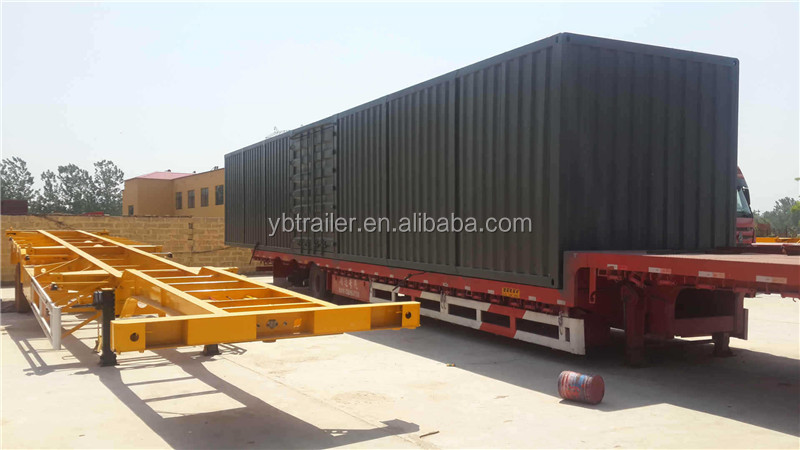 20FT 40FT Container Transport Steel Road Frame Chassis Truck Trailer