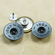 custom concave nickle metal tack button for denim jeans