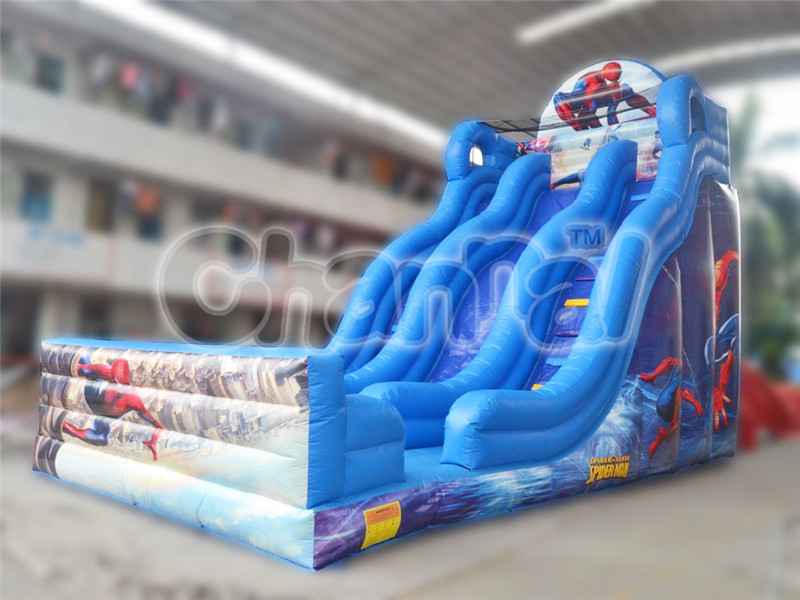 China Factory Cheap Inflatable Spiderman Slide for Climber