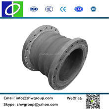 Mud slurry sand discharge dredge and suction rubber hose joint