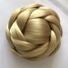 Hot sale hair dome hair chignon blonde yaki synthetic high quality for manufacturer