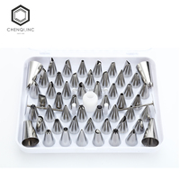 52pcs New Style high quality stainless steel bakeware cake decorating tools nozzles