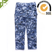 OEM custom cotton military camo blue combat trousers