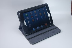 New arrival with folding and stand PU smart case for ipad mini