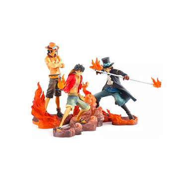 3d Hot Sales Plastic Cartoon Toy One Piece Action Figure