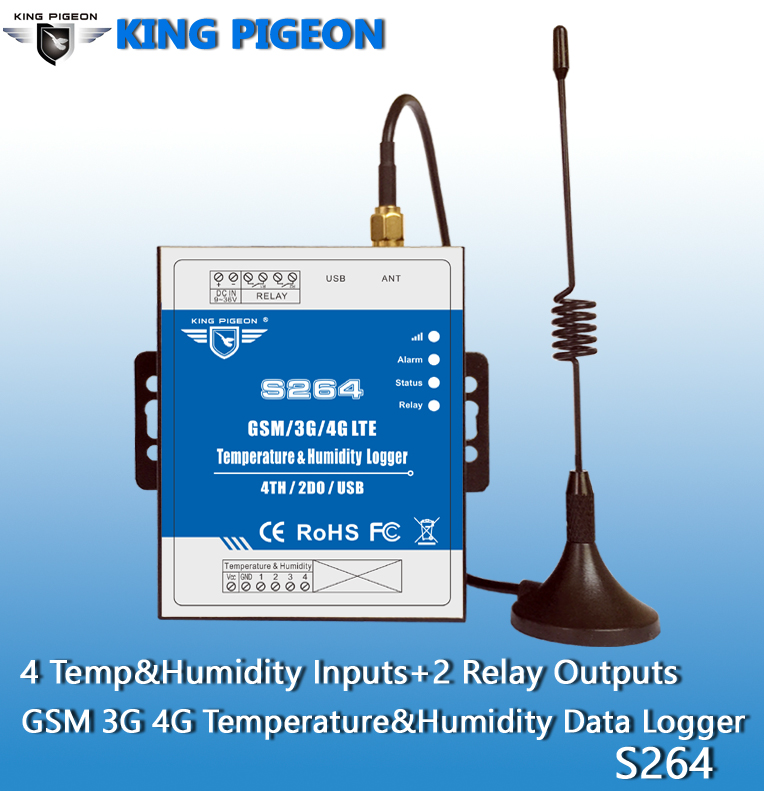S264/S265/S266 King Pigepon 3G 4G wireless Temperature&Humidity Data Logger